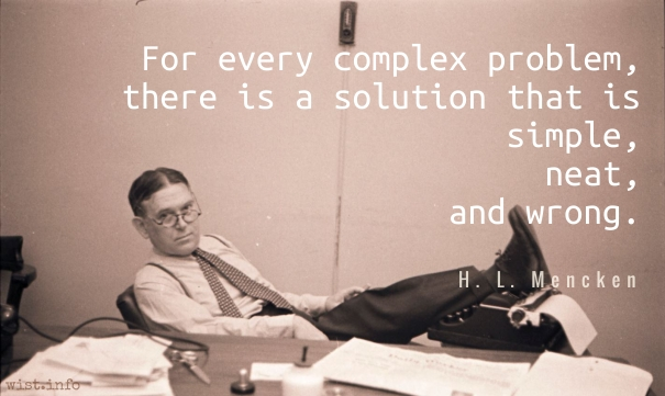 Image result for mencken complex problem