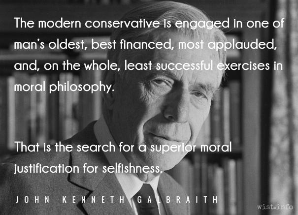 Galbraith - selfishness - wist_info