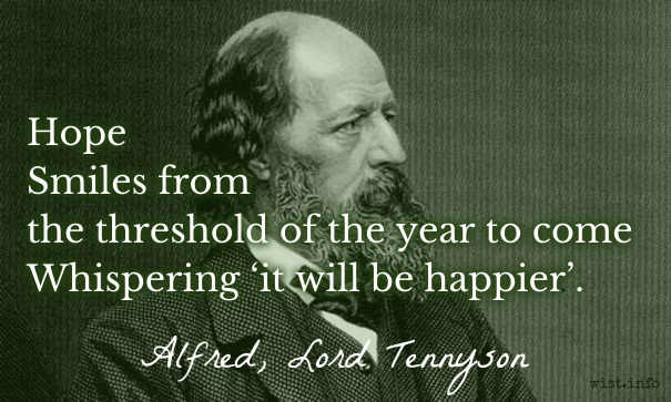 Tennyson   Hope   Wist_info Quote. Alfred, Lord ...