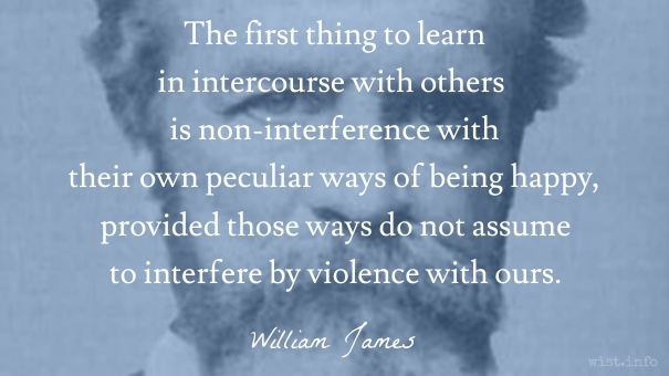James - non-interference - wist_info quote