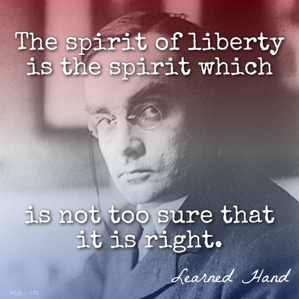 Hand - spirit of liberty - wist_info quote