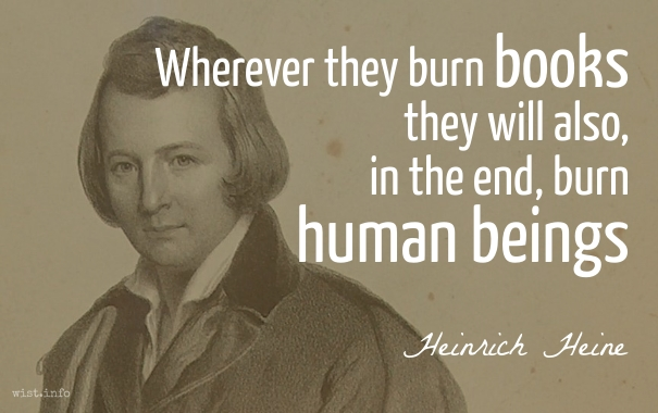 Heine - burn human beings - wist_info quote