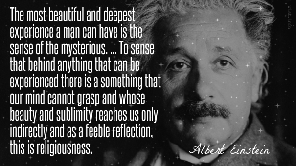 Einstein - sense of the mysterious - wist_info quote