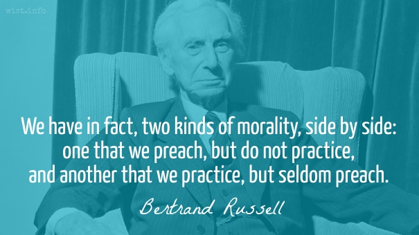 Russell - practice and preach - wist_info quote