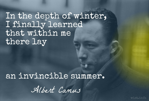 Camus - invincible summer - wist_info quote