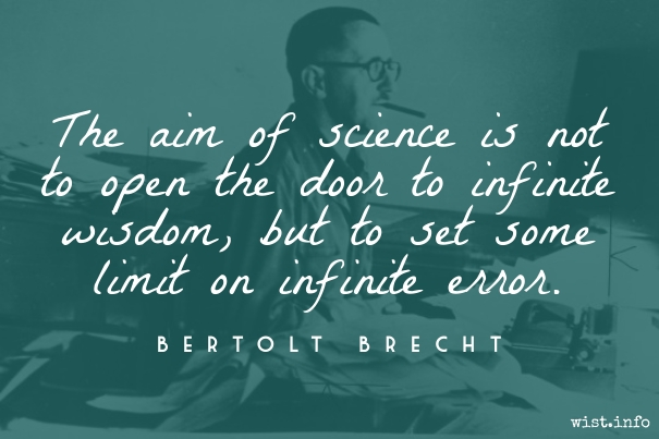 Brecht - science and infinite error - wist_info