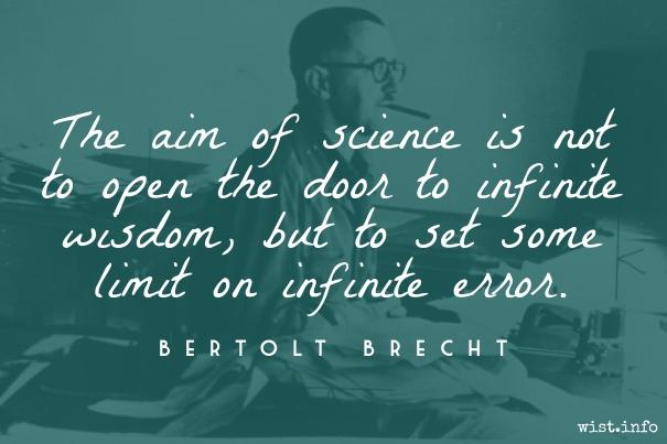 Brecht - science and infinite error - wist_info