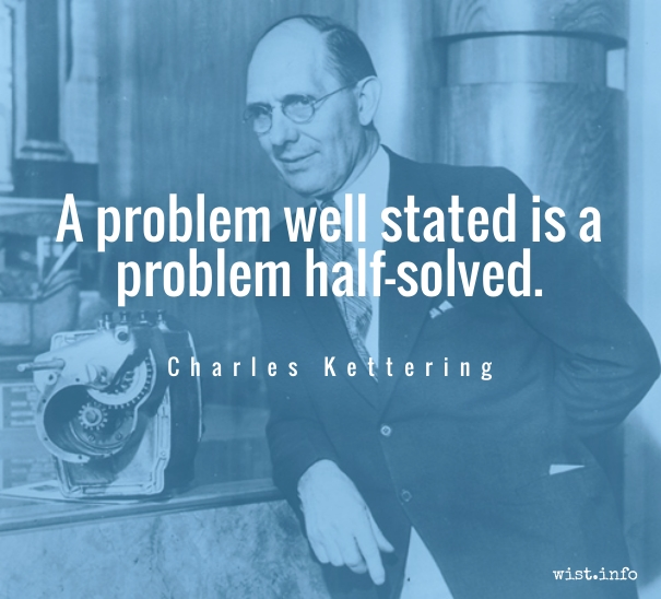 Charles Ketting - problem well stated - wist_info