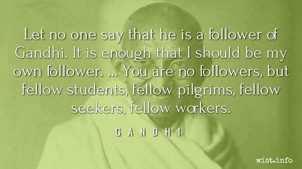 Gandhi - followers - wist_info