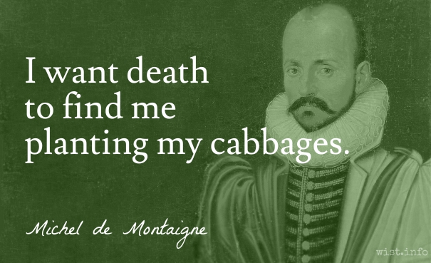 Montaigne - cabbages - wist_info