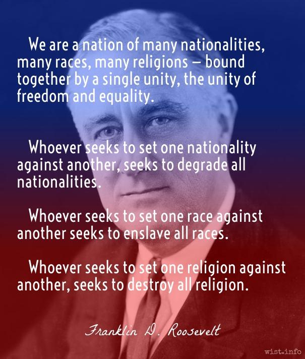 Roosevelt - nation unity - wist_info