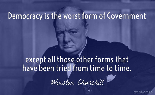 Churchill - democracy - wist_info
