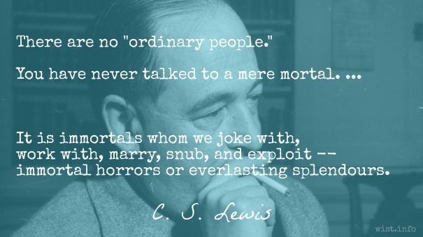 Lewis - ordinary people - wist_info quote