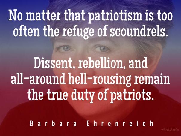 Ehrenreich - patriotism - wist_info quote
