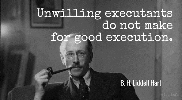 Liddell Hart - unwilling executants - wist_info quote
