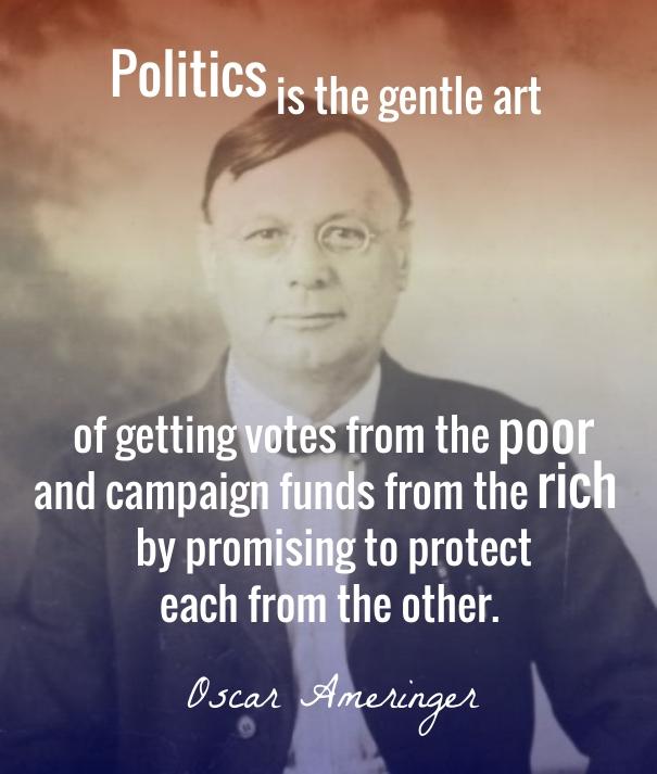 Ameinger - politics is the gentle art - wist_info quote