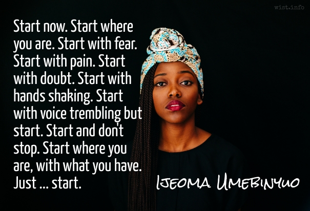 Umebinyuo - start now - wist_info quote