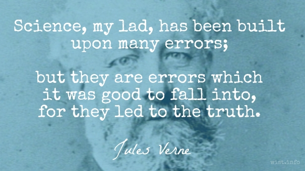 Verne - science and error - wist_info quote