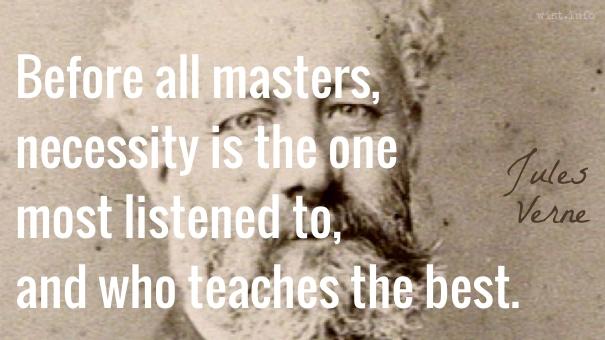 Verne - masters necesity - wist_info quote