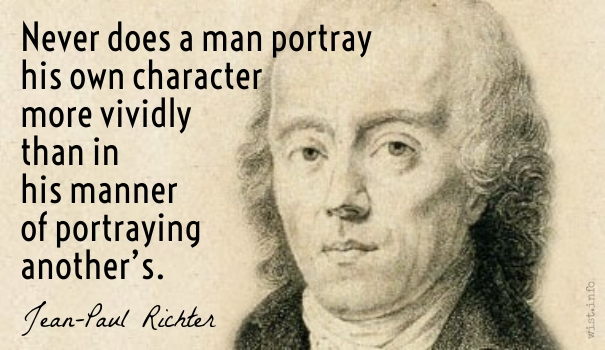 Richter - portray his own character - wist_info quote