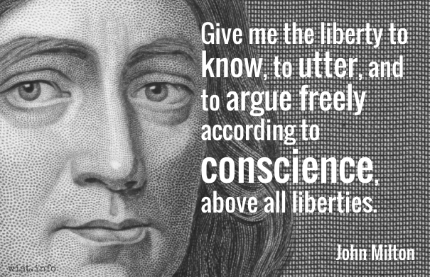 Milton - above all liberties - wist_info quote