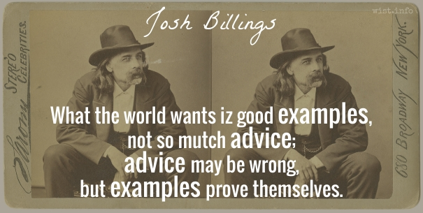 Billings - good examples - wist_info quote
