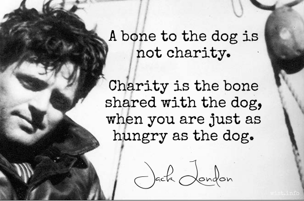 London - bone shared with the dog - wist_info quote