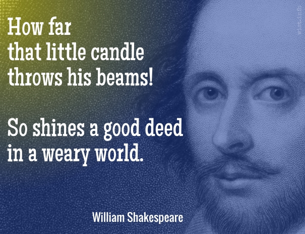 Shakespeare - how far that little candle - wist_info quote